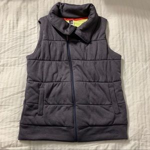Northface womens dark gray vest size large